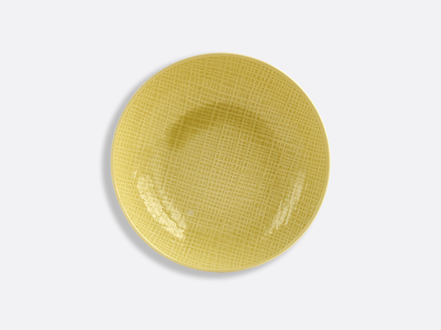 China Yellow coupe soup 19 cm of the collection ORGANZA JAUNE PAILLE | Bernardaud