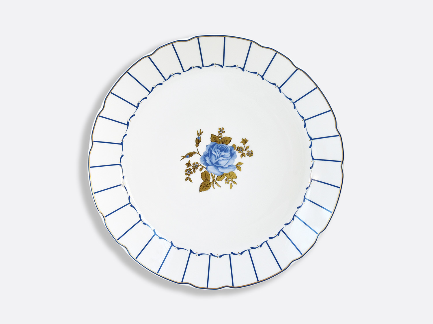 Plat rond creux 29 cm en porcelaine de la collection BROCANTE Bernardaud