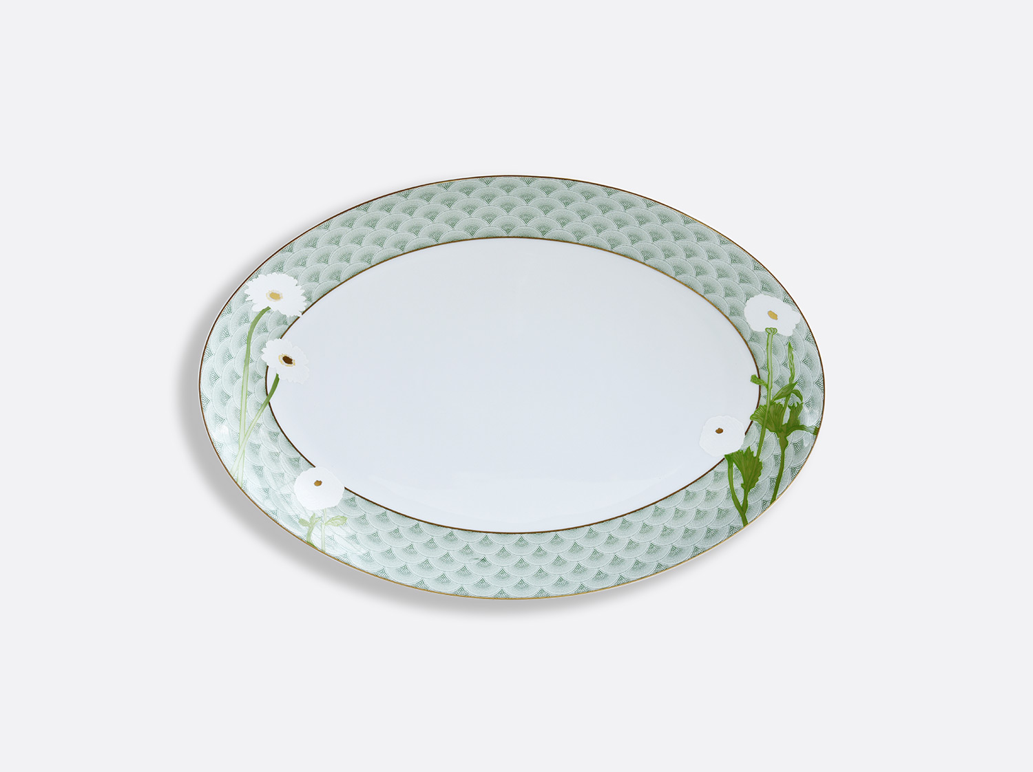 Plat ovale 38 cm en porcelaine de la collection PRAIANA Bernardaud