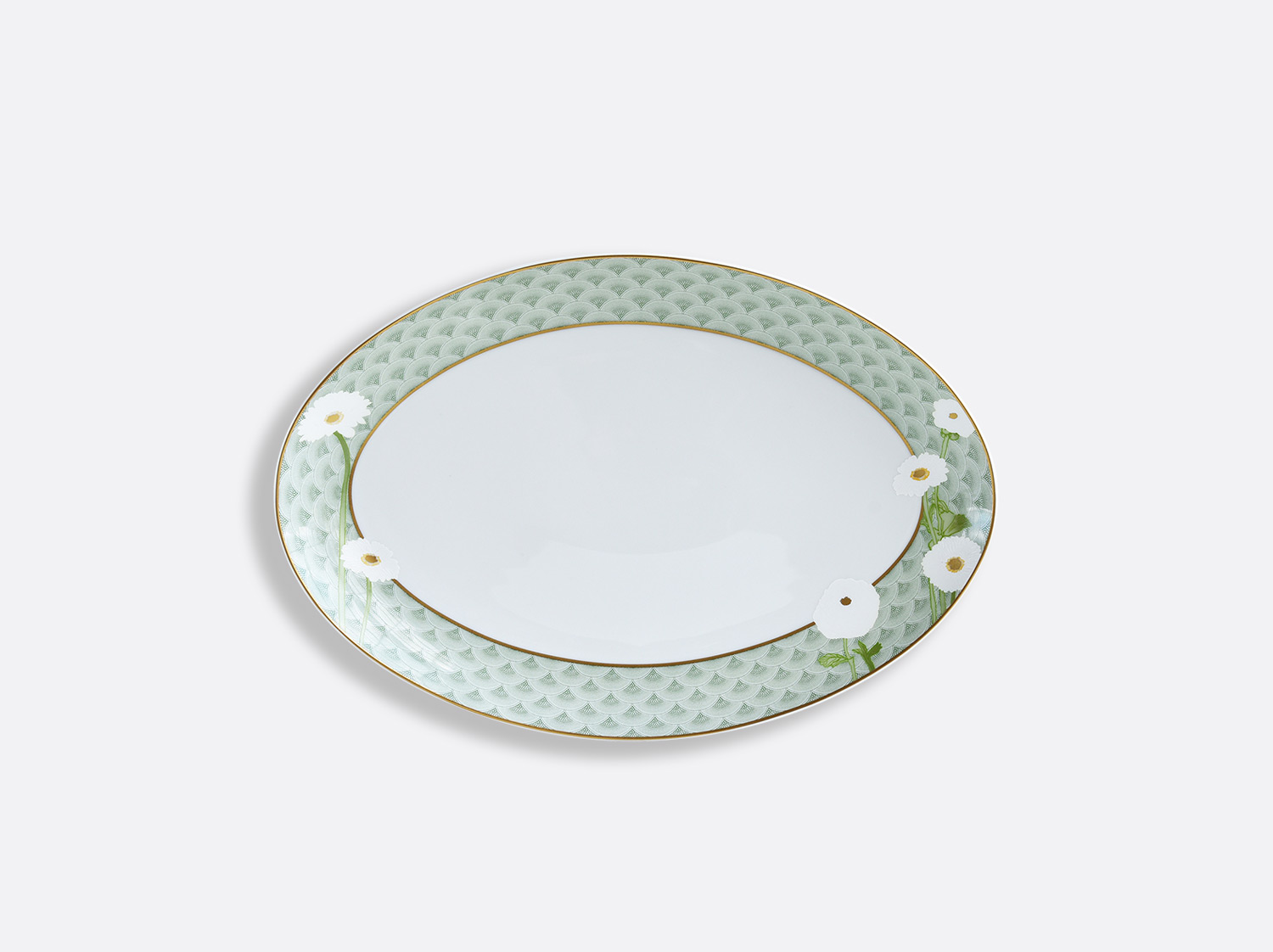 Plat ovale 33 cm en porcelaine de la collection PRAIANA Bernardaud