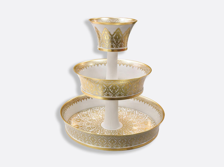 Serviteur 3 niveaux H. 51 cm D. 45,5 cm en porcelaine de la collection Venise Bernardaud