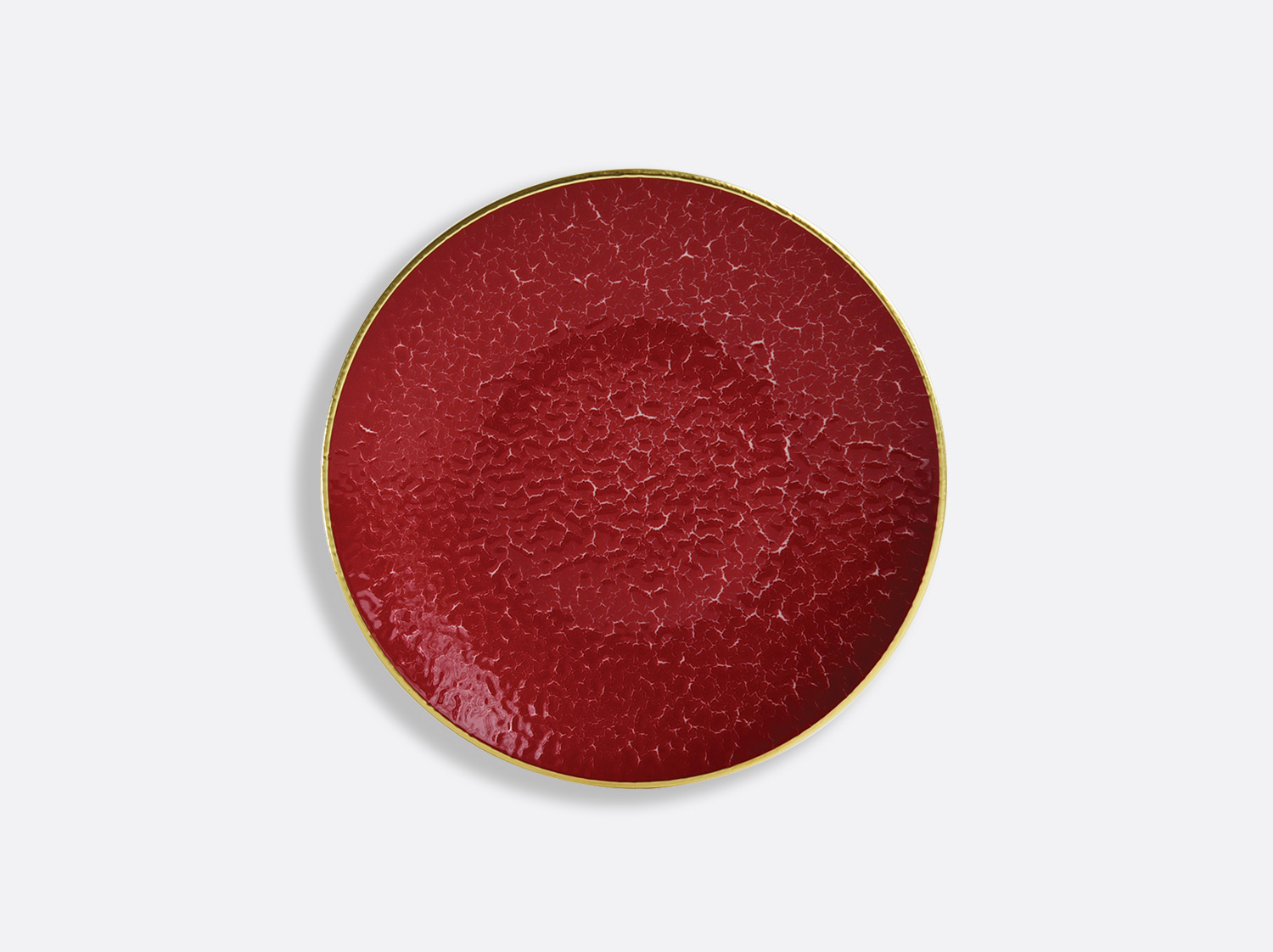 China Coupe plate 16 cm of the collection ROUGE EMPEREUR | Bernardaud