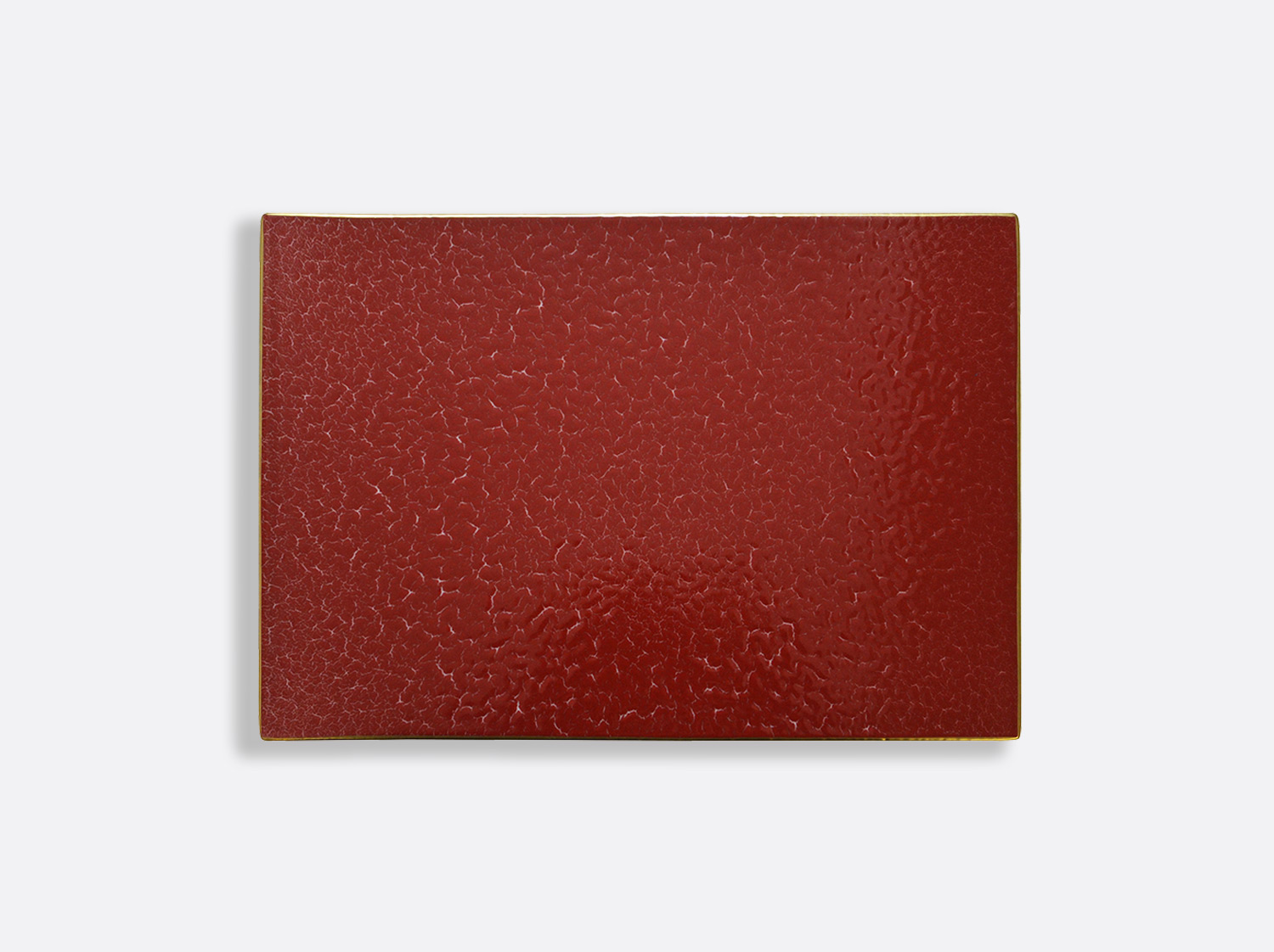 Plateau rectangulaire 27 x 19 cm en porcelaine de la collection ROUGE EMPEREUR Bernardaud