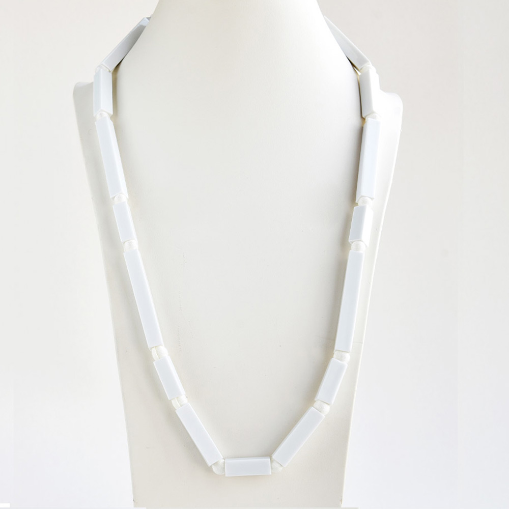 China Tube Blanc Long Necklace of the collection Be Bold Over | Bernardaud