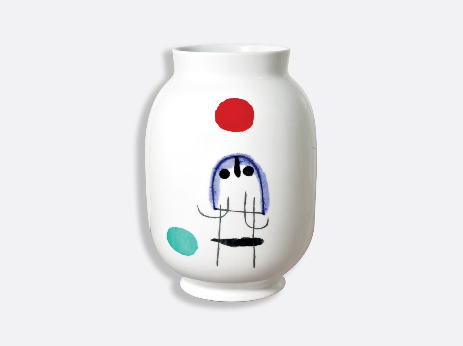 China Vase Toscan H. 35,5 cm of the collection A TOUTE EPREUVE - JOAN MIRO | Bernardaud