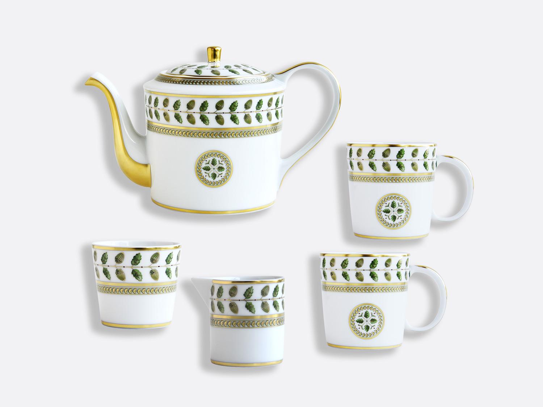 Coffret 1 théière, 2 mugs, 1 sucrier et 1 crémier en porcelaine de la collection Constance Bernardaud