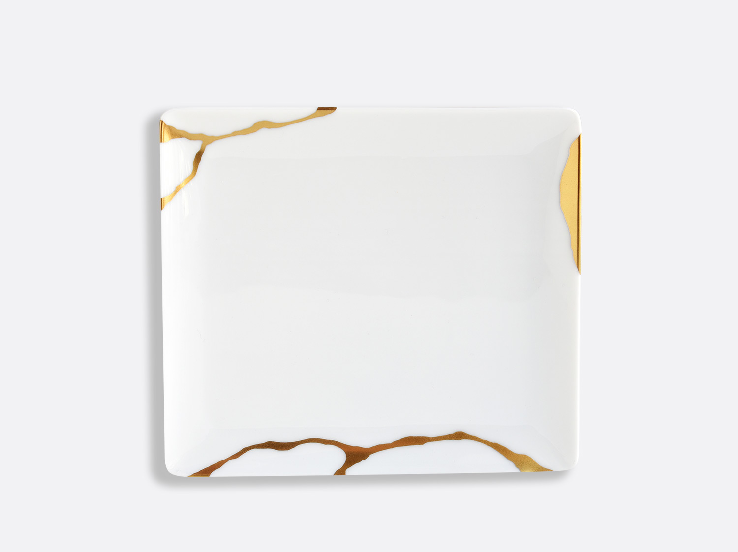 Plateau 17 x 15 cm en porcelaine de la collection Kintsugi Bernardaud