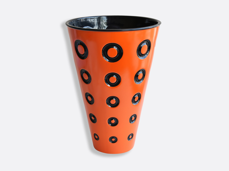 Vase H. 37,5 cm en porcelaine de la collection Panarea Orange Bernardaud