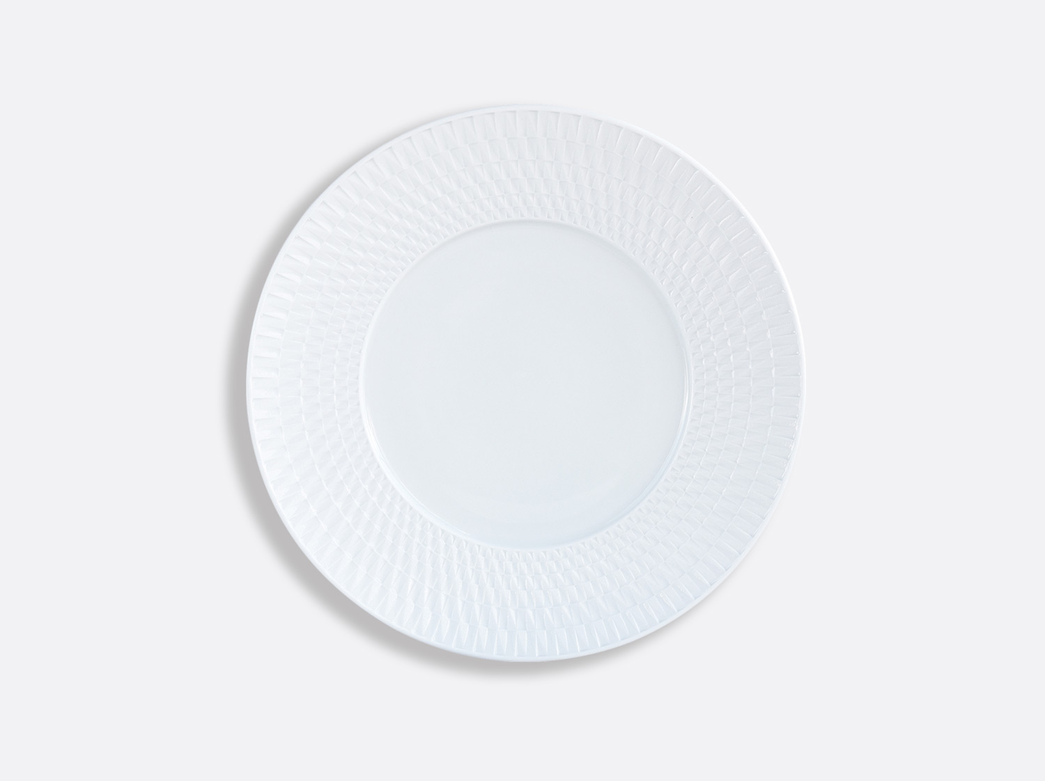 Assiette à dessert 21 cm en porcelaine de la collection Twist Bernardaud