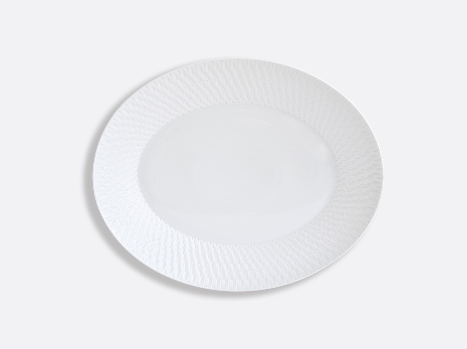 China Oval platter 38 cm of the collection Twist | Bernardaud