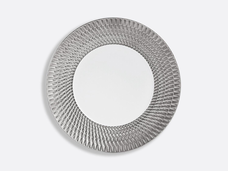 Assiette 27 cm en porcelaine de la collection Twist platine Bernardaud