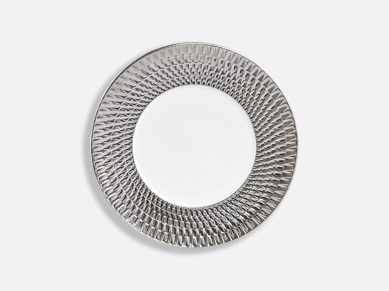 Assiette 21 cm en porcelaine de la collection Twist platine Bernardaud