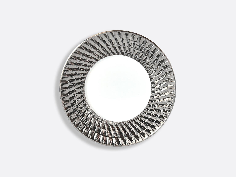 Assiette 16 cm en porcelaine de la collection Twist platine Bernardaud