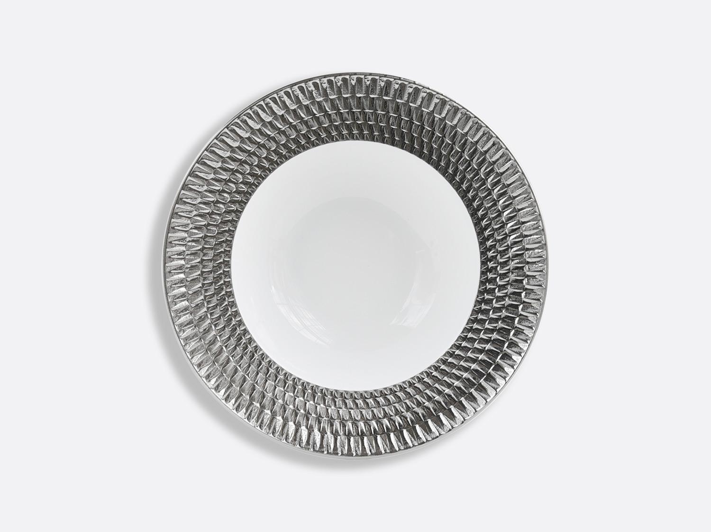 Assiette creuse à aile en porcelaine de la collection Twist platine Bernardaud