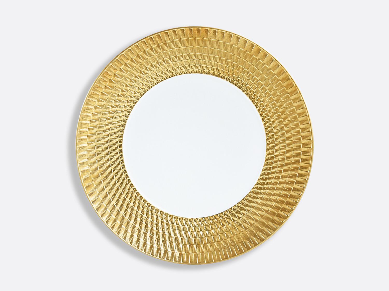 Assiette de présentation 29,5 cm en porcelaine de la collection Twist or Bernardaud