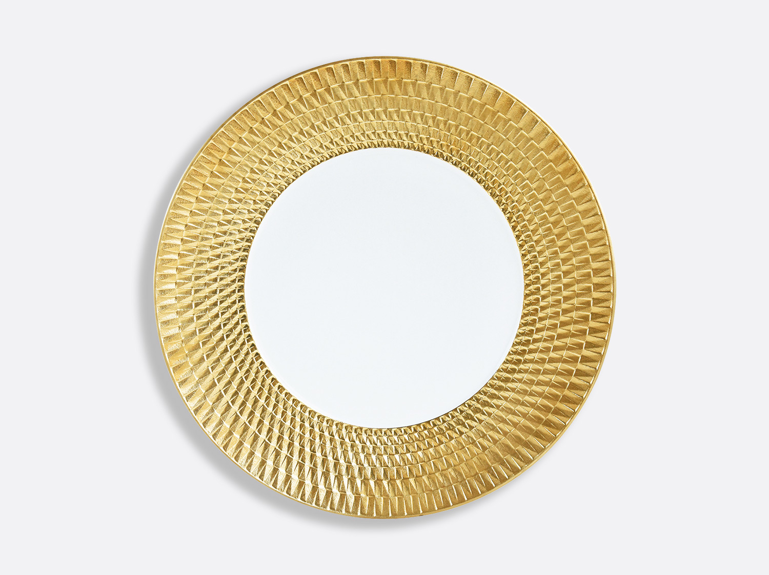 Assiette 27 cm en porcelaine de la collection Twist or Bernardaud