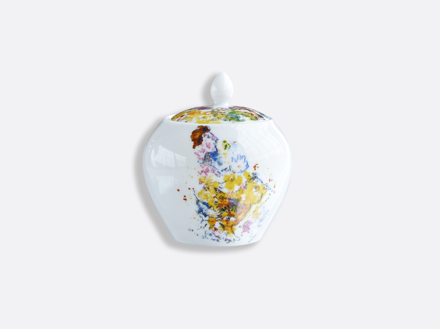 China Sugar bowl 12 cups 30 cl of the collection LES BOUQUETS DE FLEURS DE  MARC CHAGALL | Bernardaud