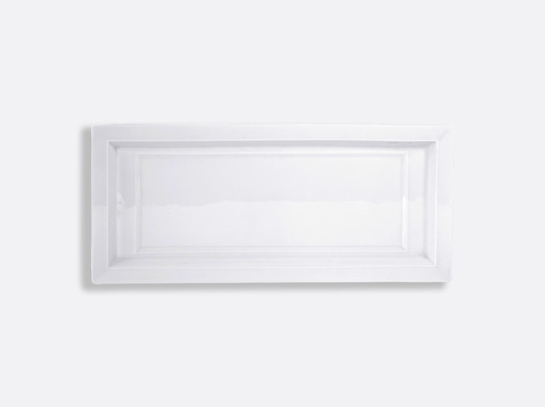 China Rectangular cake platter 38 cm of the collection Athos blanc | Bernardaud