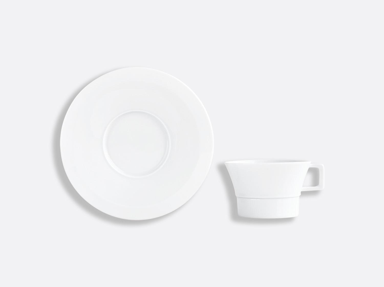 Tasse et soucoupe thé 10 cl en porcelaine de la collection Conti Bernardaud