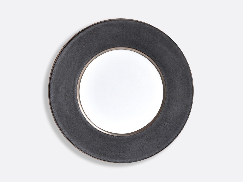 Assiette Mine de plomb/Platine 29,5 cm en porcelaine de la collection Émail mine de plomb - platine Bernardaud