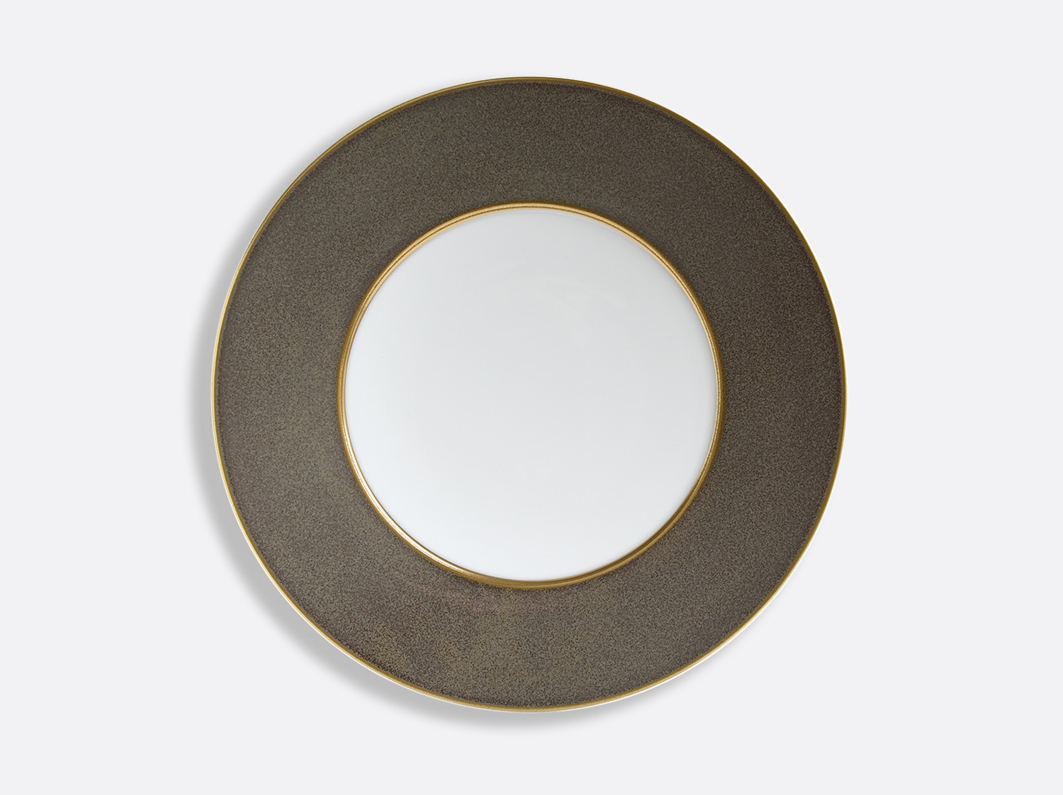 China Taupe/Or plate 29.5 cm of the collection ÉMAIL TAUPE - OR | Bernardaud