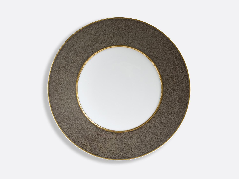 Assiette Taupe/Or 29,5 cm en porcelaine de la collection ÉMAIL TAUPE - OR Bernardaud