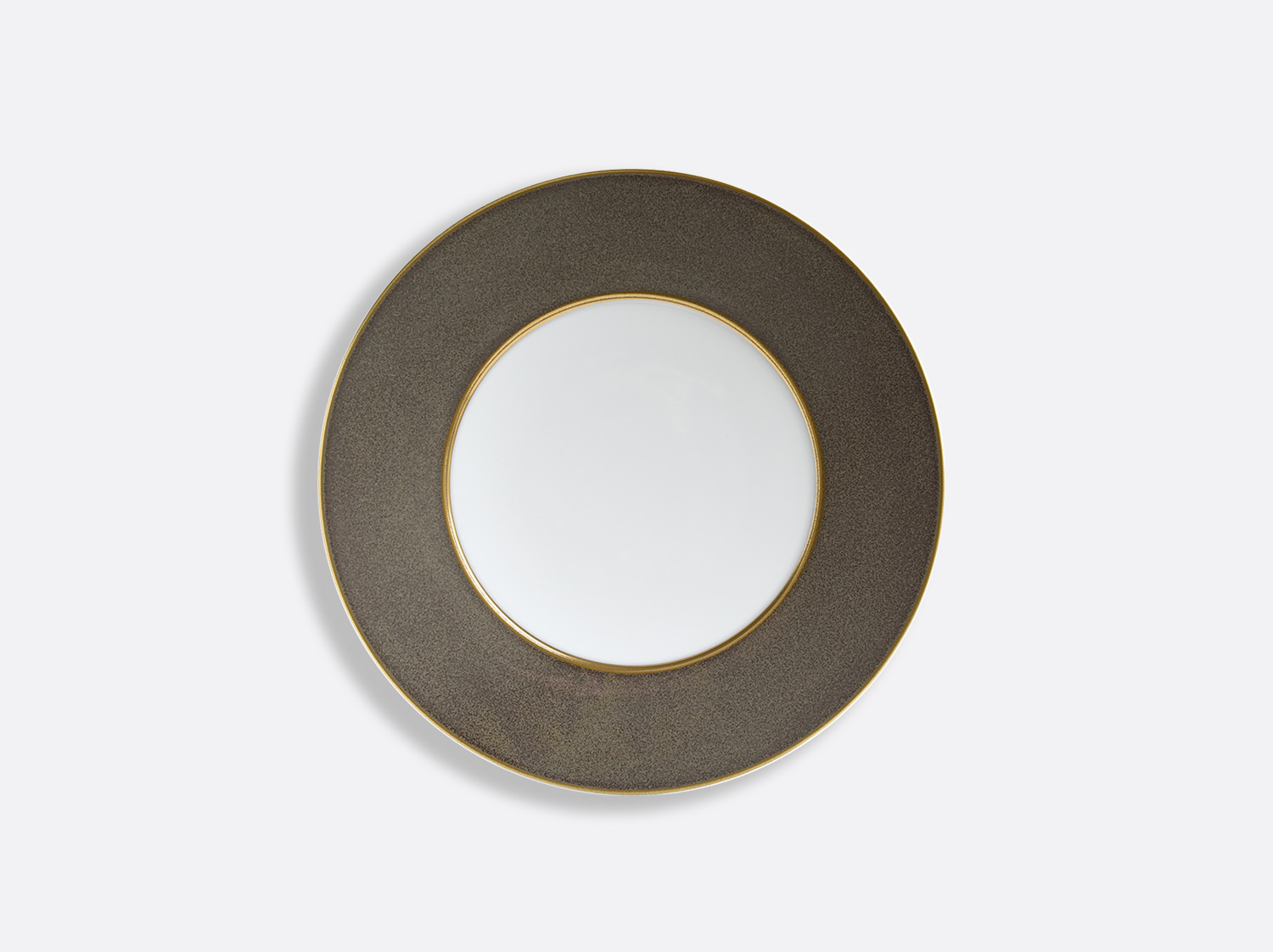 China Taupe/Or plate 16 cm of the collection ÉMAIL TAUPE - OR | Bernardaud
