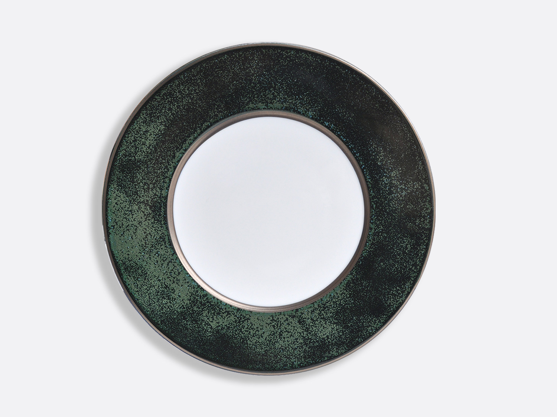 "China Vert Marais/Platine plate 11.5"" of the collection ÉMAIL VERT MARAIS - PLATINE | Bernardaud"