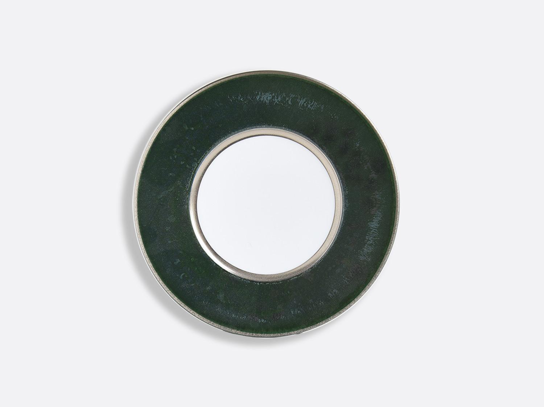China Vert Marais/Platine plate 16 cm of the collection ÉMAIL VERT MARAIS - PLATINE | Bernardaud