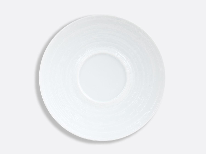 Assiette Shogun Blanc Brossé 29,5 cm en porcelaine de la collection Blanc Brossé Bernardaud