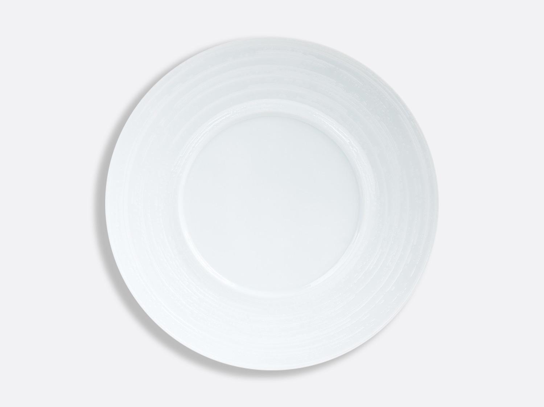 China Blanc Brossé Shogun plate 29.5 cm of the collection Blanc Brossé | Bernardaud