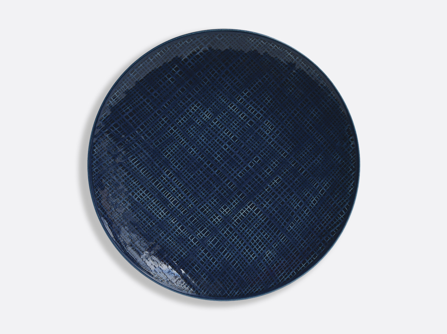 China Bleu Jean plate 29.5 cm of the collection ORGANZA BLEU JEANS | Bernardaud