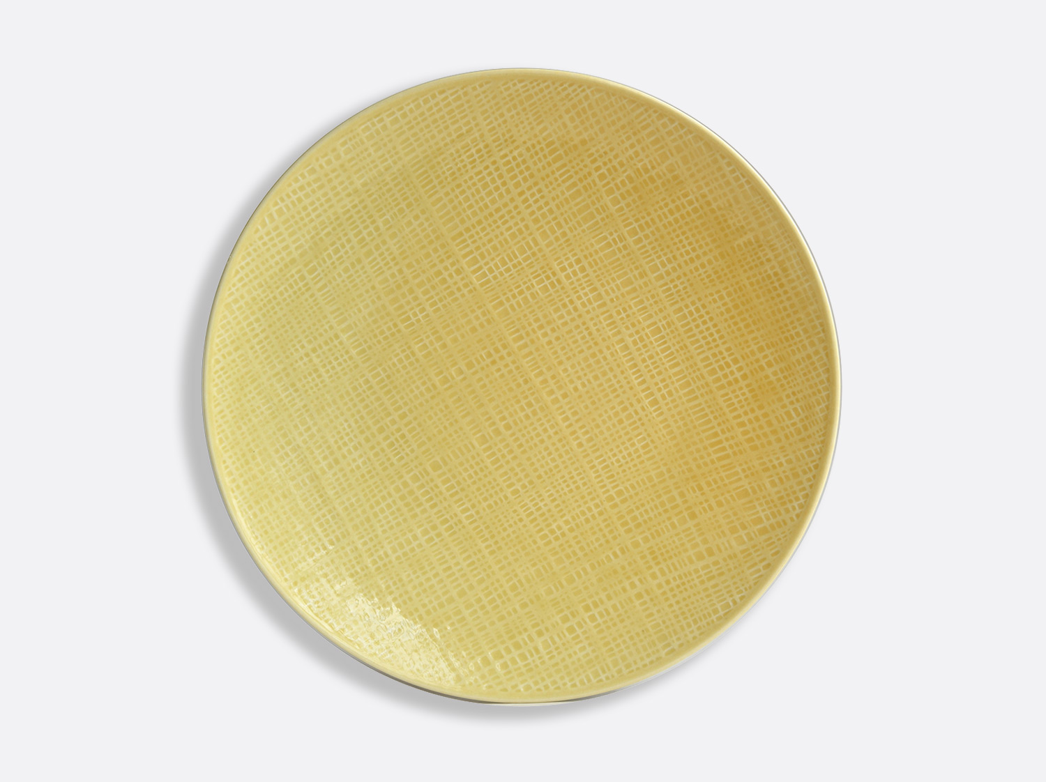 "China Jaune Paille plate 11.6"" of the collection ORGANZA JAUNE PAILLE 