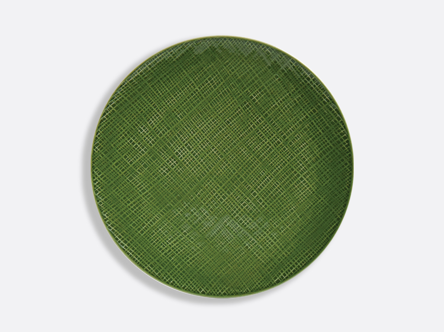 China Vert Chartreux coupe plate 26 cm of the collection ORGANZA VERT CHARTREUX | Bernardaud