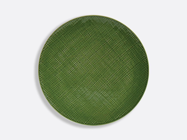 Assiette coupe Vert Chartreux 26 cm en porcelaine de la collection ORGANZA VERT CHARTREUX Bernardaud