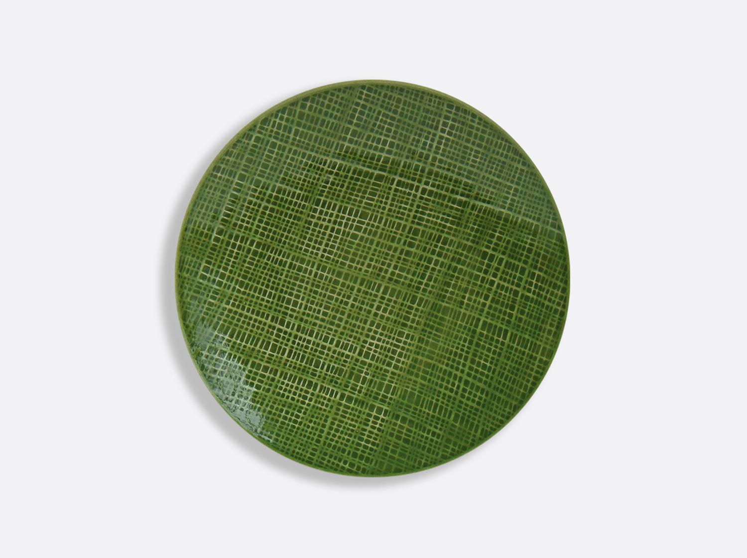 China Vert Chartreux coupe plate 21 cm of the collection ORGANZA VERT CHARTREUX | Bernardaud