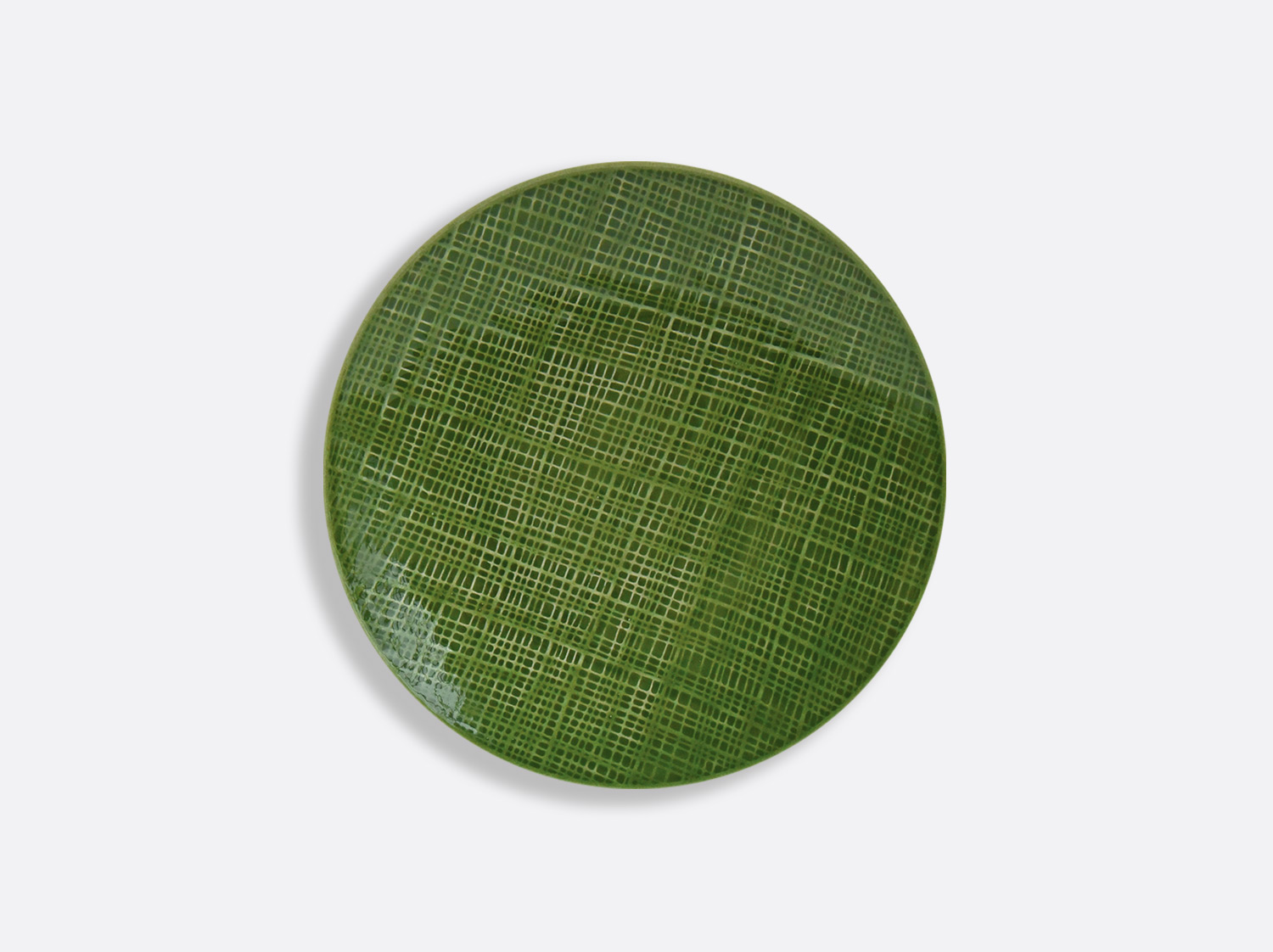 China Vert Chartreux coupe plate 16 cm of the collection ORGANZA VERT CHARTREUX | Bernardaud