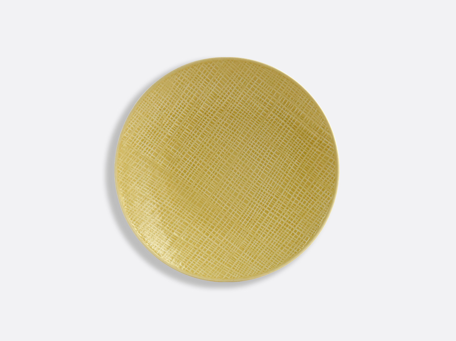 Assiette Jaune Paille 16 cm en porcelaine de la collection ORGANZA JAUNE PAILLE Bernardaud