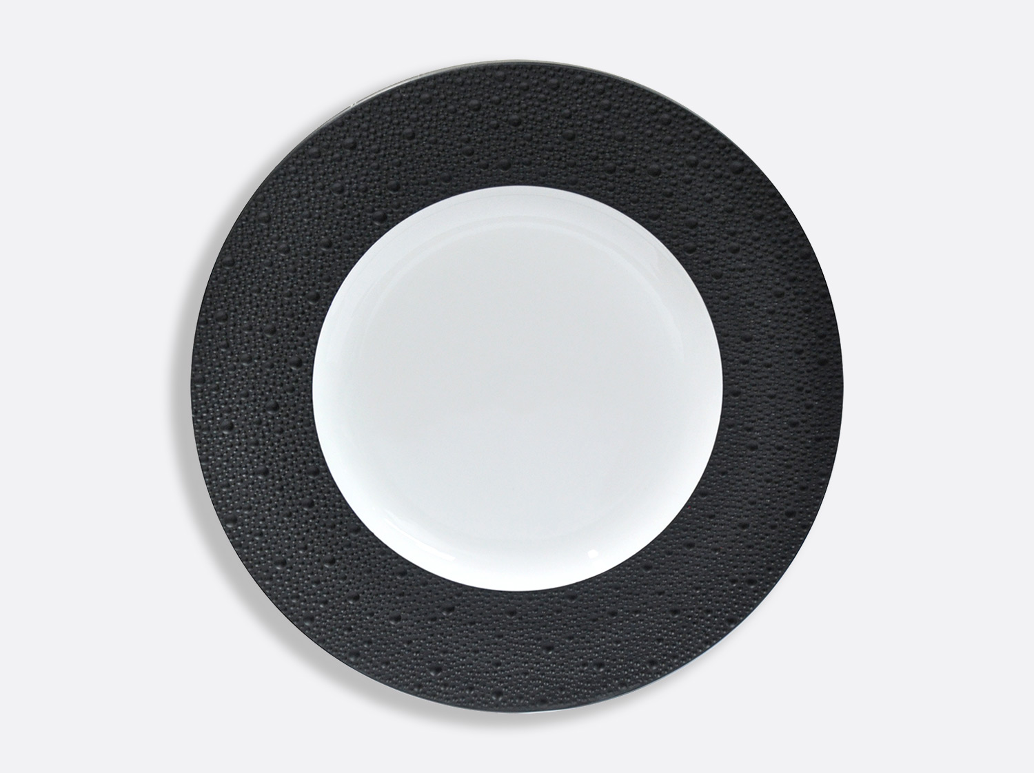 China Plates 31,5 cm - Écume Noir of the collection Ecume Noir | Bernardaud
