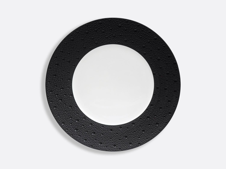 Assiettes 26 cm - Écume Noir en porcelaine de la collection Ecume Noir Bernardaud