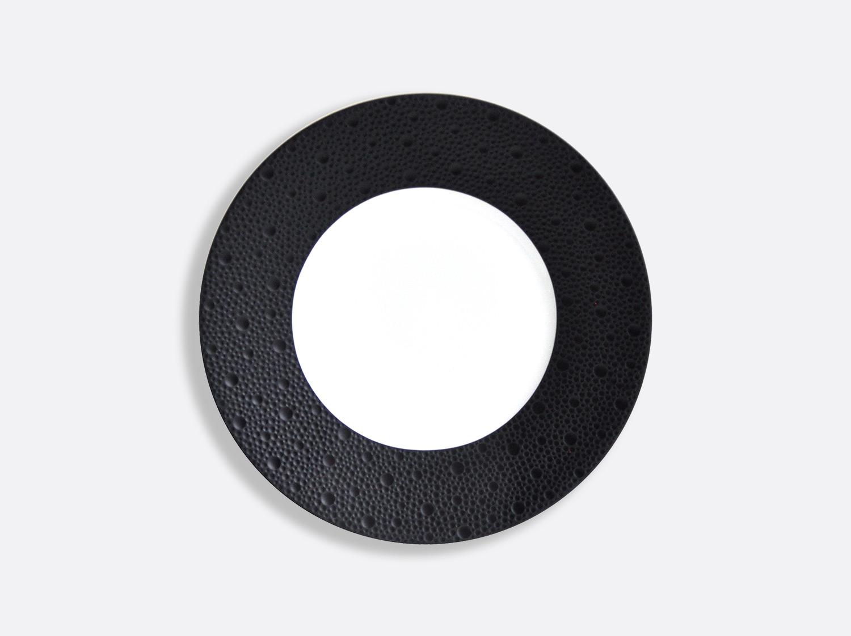 Assiettes 21 cm - Écume Noir en porcelaine de la collection Ecume Noir Bernardaud