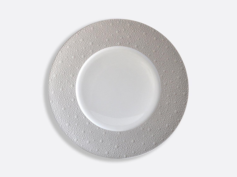 Assiettes 26 cm - Écume Gris en porcelaine de la collection Ecume gris Bernardaud