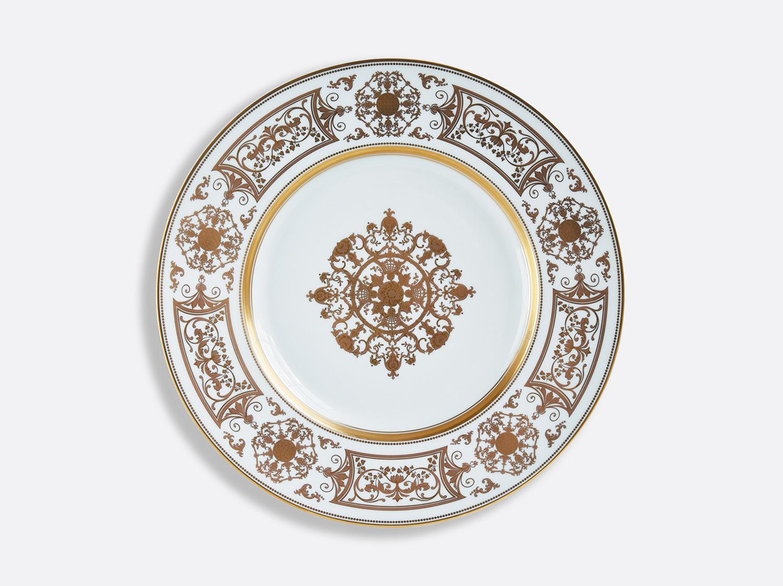 Assiette de présentation 31,5 cm à aile large en porcelaine de la collection Aux Rois Or Bernardaud