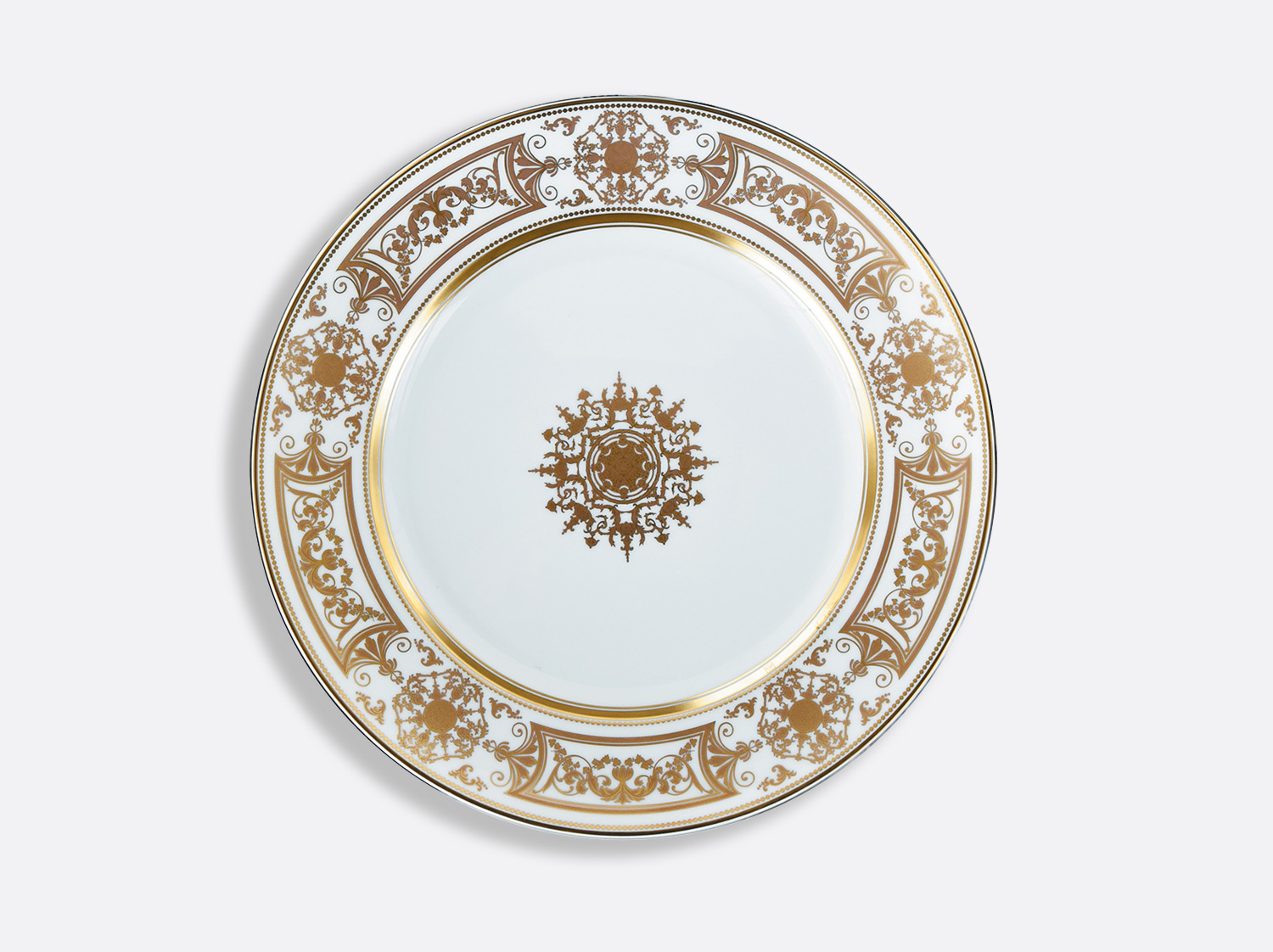 Assiette à dîner 26 cm en porcelaine de la collection Aux Rois Or Bernardaud