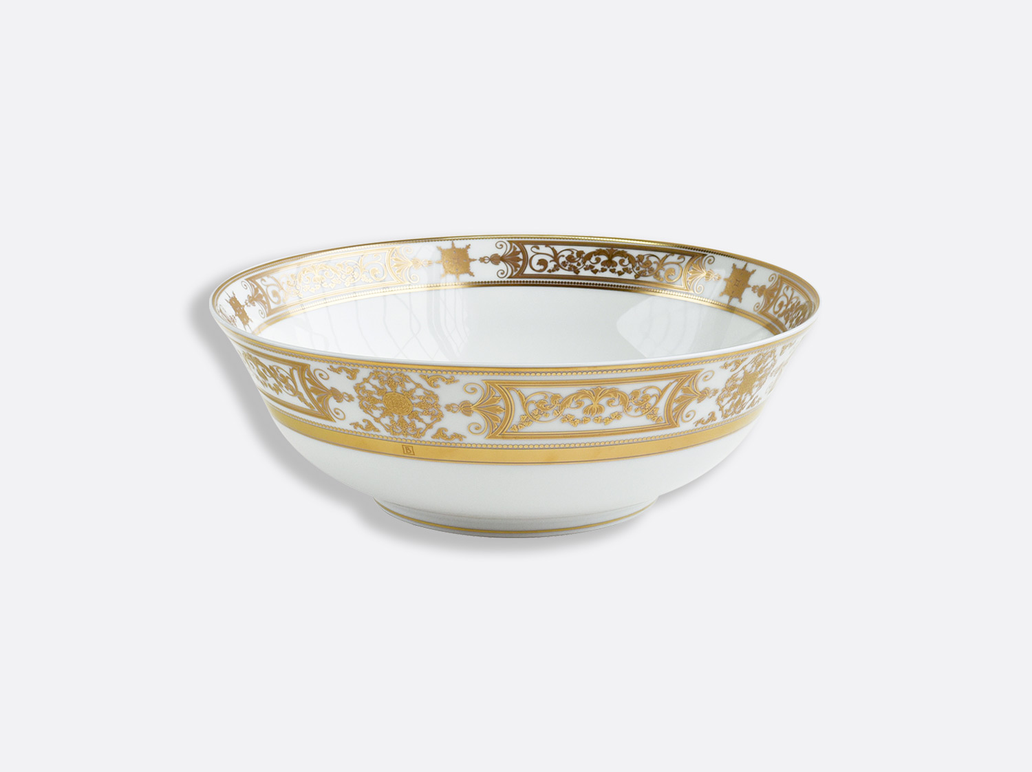 Saladier 25 cm 1,7 L en porcelaine de la collection Aux Rois Or Bernardaud
