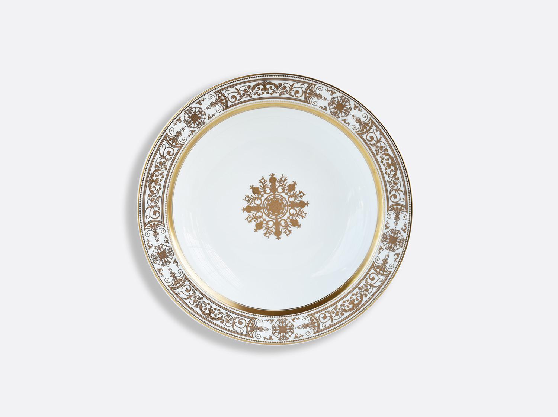 Plat rond creux 29 cm en porcelaine de la collection Aux Rois Or Bernardaud