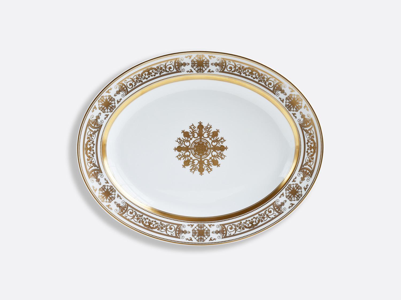 Plat ovale 33 cm en porcelaine de la collection Aux Rois Or Bernardaud