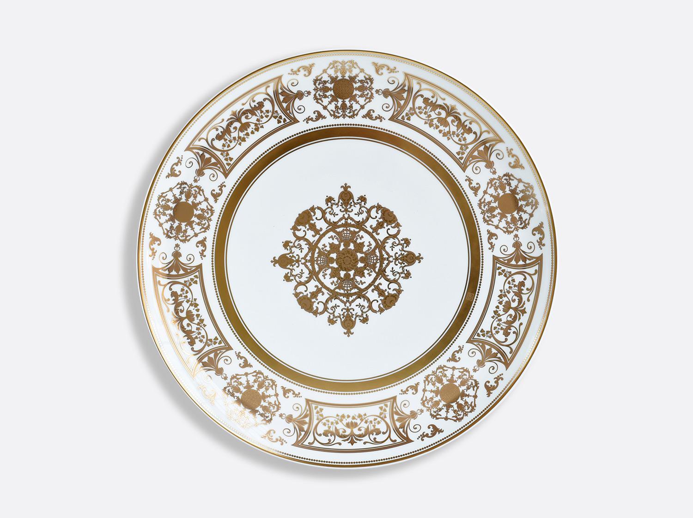 Plat à tarte 32 cm en porcelaine de la collection Aux Rois Or Bernardaud