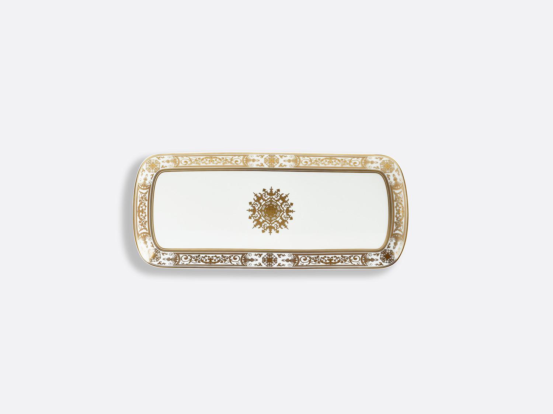 Plat à cake 37 cm en porcelaine de la collection Aux Rois Or Bernardaud