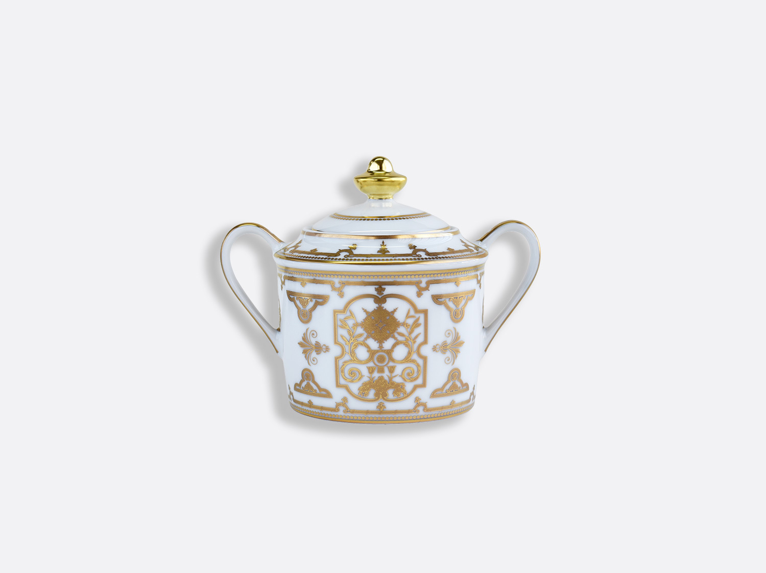 Sucrier 6 tasses 20 cl en porcelaine de la collection Aux Rois Or Bernardaud